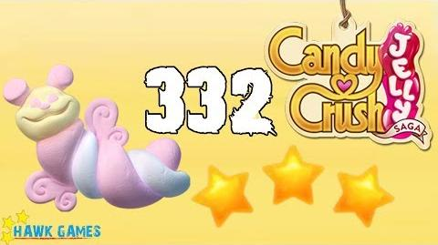 Candy Crush Jelly - 3 Stars Walkthrough Level 332 (Puffler mode)