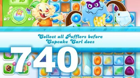 Candy Crush Jelly Saga Level 740 (3 star, No boosters)