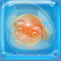 Monkling Egg in Blue Jelly Cube