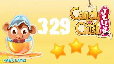 Candy Crush Jelly - 3 Stars Walkthrough Level 329 (Monkling mode)