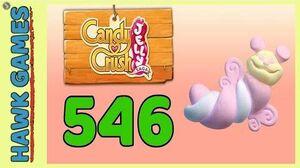 Candy Crush Jelly Saga Level 546 (Puffler mode) - 3 Stars Walkthrough, No Boosters