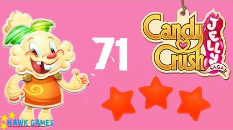 Candy Crush Jelly - 3 Stars Walkthrough Level 71 (Jelly mode)