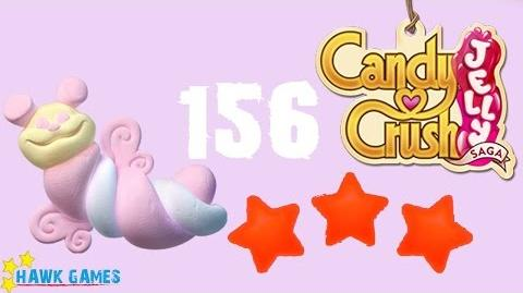 Candy Crush Jelly - 3 Stars Walkthrough Level 156 (Puffler mode)