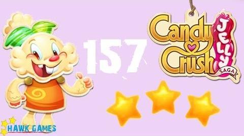 Candy Crush Jelly - 3 Stars Walkthrough Level 157 (Jelly mode)