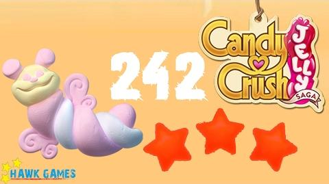 Candy Crush Jelly - 3 Stars Walkthrough Level 242 (Puffler mode)