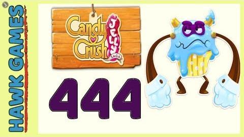 Candy Crush Jelly Saga Level 444 (Puffler Boss mode) - 3 Stars Walkthrough, No Boosters