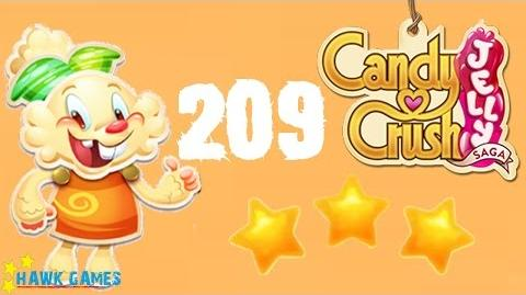 Candy Crush Jelly - 3 Stars Walkthrough Level 209 (Jelly mode)