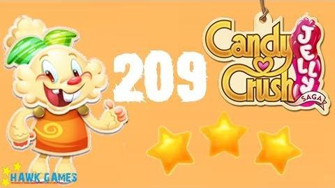 Candy Crush Jelly - 3 Stars Walkthrough Level 209 (Jelly mode)