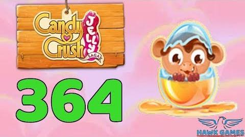 Candy Crush Jelly Saga Level 364 (Monkling mode) - 3 Stars Walkthrough, No Boosters