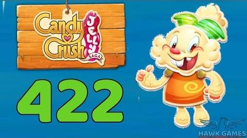 Candy Crush Jelly 🍰 Saga Level 422 (Jelly mode) - 3 Stars Walkthrough, No Boosters