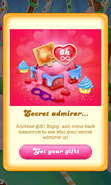 Free Gift Secret admirer Wrapped lollipop hammer Unlimited lives Valentine 2018