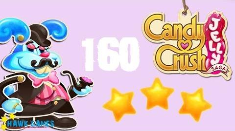 Candy Crush Jelly - 3 Stars Walkthrough Level 160 (Monkling Boss mode)