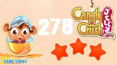 Candy Crush Jelly - 3 Stars Walkthrough Level 278 (Monkling mode)