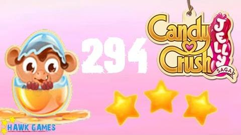 Candy Crush Jelly - 3 Stars Walkthrough Level 294 (Monkling mode)