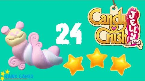 Candy Crush Jelly - 3 Stars Walkthrough Level 24 (Puffler mode)