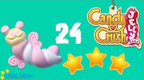 Candy Crush Jelly - 3 Stars Walkthrough Level 24 (Puffler mode)
