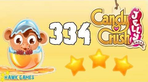 Candy Crush Jelly - 3 Stars Walkthrough Level 334 (Monkling mode)