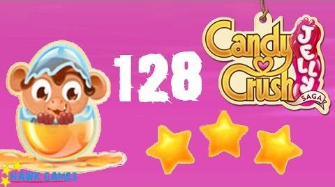Candy Crush Jelly - 3 Stars Walkthrough Level 128 (Monkling mode)