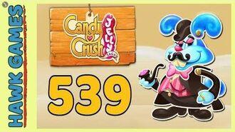 Candy Crush Jelly Saga Level 539 (Monkling Boss mode) - 3 Stars Walkthrough, No Boosters