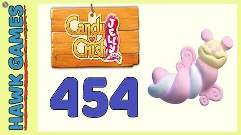 Candy Crush Jelly Saga Level 454 Super hard (Puffler mode) - 3 Stars Walkthrough, No Boosters