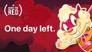 One day left RED