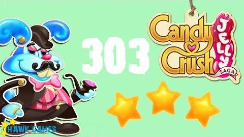 Candy Crush Jelly - 3 Stars Walkthrough Level 303 (Monkling Boss mode)