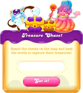 Treasure Chase message