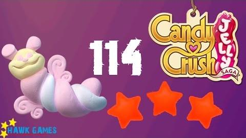 Candy Crush Jelly - 3 Stars Walkthrough Level 114 (Puffler mode)