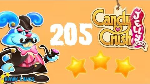 Candy Crush Jelly - 3 Stars Walkthrough Level 205 (Monkling Boss mode)