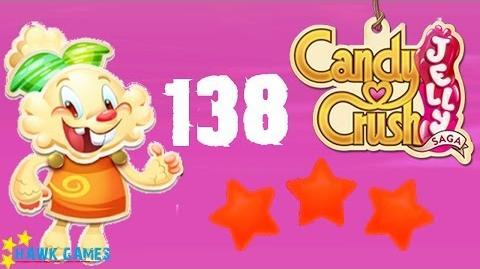 Candy Crush Jelly - 3 Stars Walkthrough Level 138 (Jelly mode)