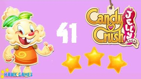 Candy Crush Jelly - 3 Stars Walkthrough Level 41 (Jelly mode)
