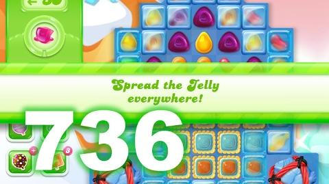 Candy Crush Jelly Saga Level 736 (No boosters)