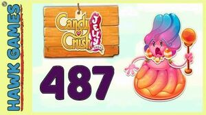 Candy Crush Jelly Saga Level 487 (Jelly Boss mode) - 3 Stars Walkthrough, No Boosters