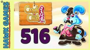 Candy Crush Jelly Saga Level 516 (Monkling Boss mode) - 3 Stars Walkthrough, No Boosters-0