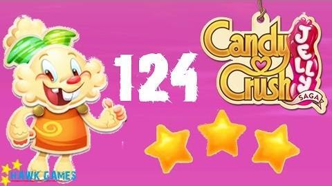 Candy Crush Jelly - 3 Stars Walkthrough Level 124 (Jelly mode)
