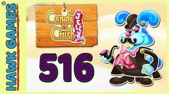 Candy Crush Jelly Saga Level 516 (Monkling Boss mode) - 3 Stars Walkthrough, No Boosters