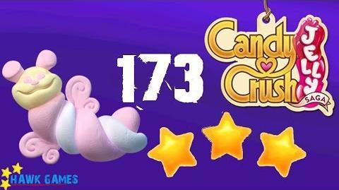 Candy Crush Jelly - 3 Stars Walkthrough Level 173 (Puffler mode)