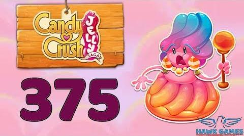 Candy Crush Jelly Saga Level 375 (Jelly Boss mode) - 3 Stars Walkthrough, No Boosters