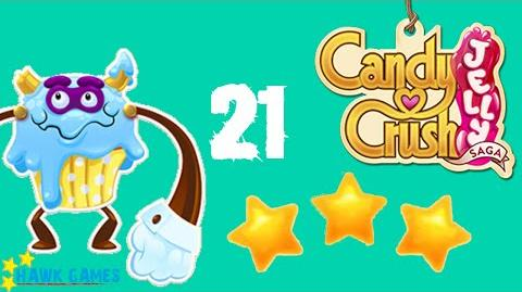 Candy Crush Jelly - 3 Stars Walkthrough Level 21 (Puffler Boss mode)