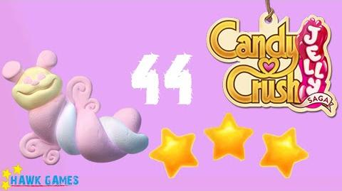 Candy Crush Jelly - 3 Stars Walkthrough Level 44 (Puffler mode)