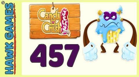 Candy Crush Jelly Saga Level 457 (Puffler Boss mode) - 3 Stars Walkthrough, No Boosters