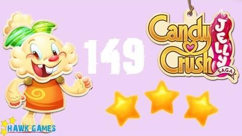 Candy Crush Jelly - 3 Stars Walkthrough Level 149 (Jelly mode)