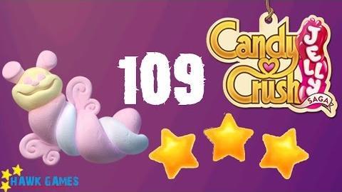 Candy Crush Jelly - 3 Stars Walkthrough Level 109 (Puffler mode)