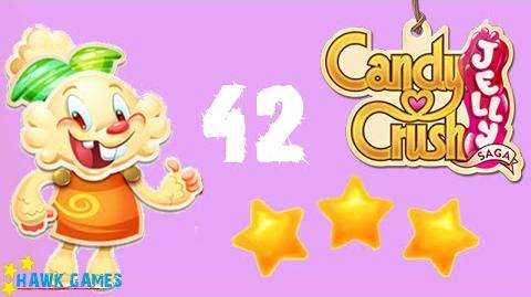 Candy Crush Jelly - 3 Stars Walkthrough Level 42 (Jelly mode)