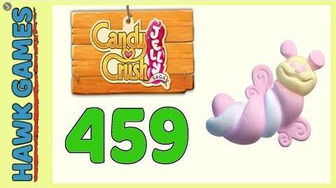 Candy Crush Jelly Saga Level 459 (Puffler mode) - 3 Stars Walkthrough, No Boosters-0