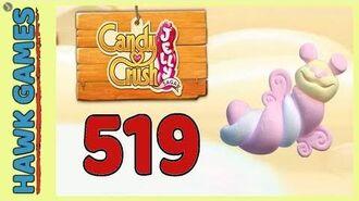 Candy Crush Jelly Saga Level 519 Hard (Puffler mode) - 3 Stars Walkthrough, No Boosters