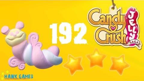 Candy Crush Jelly - 3 Stars Walkthrough Level 192 (Puffler mode)