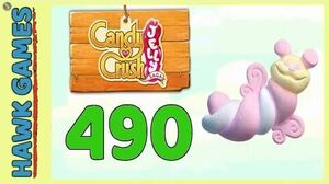 Candy Crush Jelly Saga Level 490 (Puffler mode) - 3 Stars Walkthrough, No Boosters