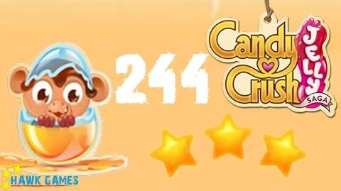 Candy Crush Jelly - 3 Stars Walkthrough Level 244 (Monkling mode)