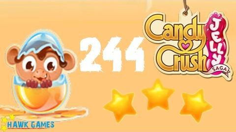 Candy Crush Jelly - 3 Stars Walkthrough Level 244 (Monkling mode)